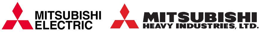Mitsubishi Electric and mitsubishi heavy industries (MHI) Logos
